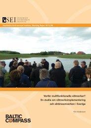 Varför multifunktionella våtmarker? - Stockholm Environment Institute