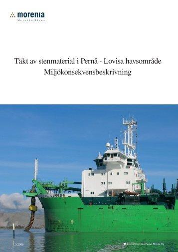 Täkt av stenmaterial i Pernå - Lovisa havsområde ...