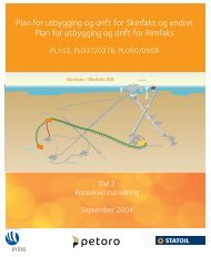 Plan for utbygging og drift for Skinfaks og endret Plan for ... - Statoil