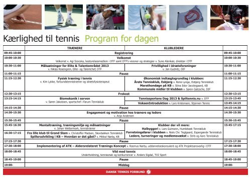 Program - Dansk Tennis Forbund