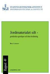 Rapport - SGI. Swedish Geotechnical Institute