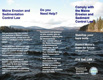 Comply with the Maine Erosion and Sediment Control ... - Maine.gov