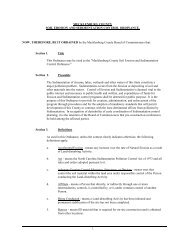 MECKLENBURG COUNTY SOIL EROSION AND SEDIMENTATION ...