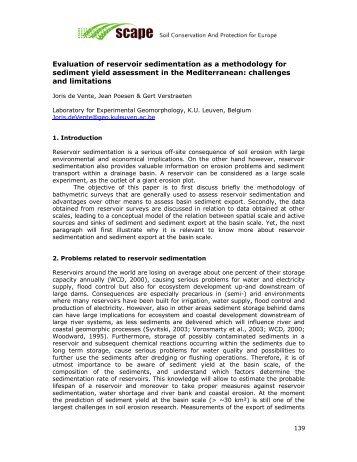Evaluation of reservoir sedimentation as a methodology for ...