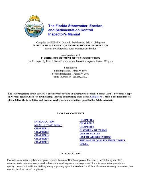 Florida Stormwater, Erosion, and Sedimentation Control