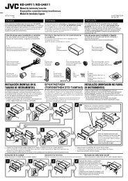 6 5 3 2 4 1 kd-lh911/kd-lh811 instalação (montagem no painel ... - Jvc