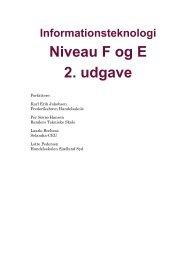 Informationsteknologi Niveau F og E 2. udgave