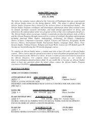 Spring 2008 Course List - Jackson School of International Studies ...