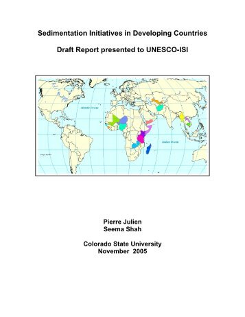 Sedimentation Initiatives in Developing Countries Draft Report ...