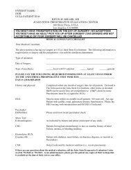 History and Physical Examination Form - Jules Stein Eye Institute