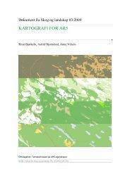 KARTOGRAFI FOR AR5 - Skog og landskap