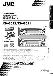 Panel de control — KD-G312/KD-G311 - Jvc