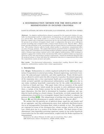 Multiresolution schemes for two-dimensional sedimentation