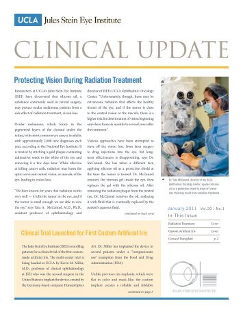 View January 2011 Clinical Update - Jules Stein Eye Institute
