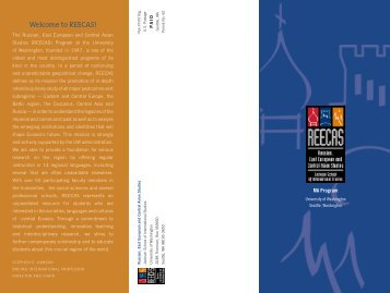 REECAS MA Brochure - Jackson School of International Studies ...