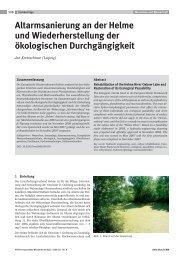 Altarmsanierung Helme, Korrespondenz Wasserwirtschaft 09/2008