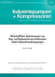 Wirtschaftlicher Hydrotransport von Flug - FELUWA Pumpen GmbH