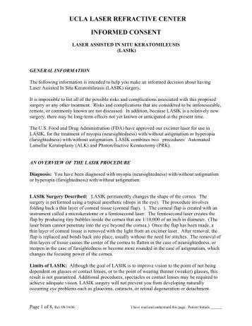 ucla laser refractive center informed consent