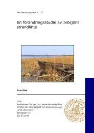 En förändringsstudie av Ivösjöns strandlinje - Ivösjökommittén