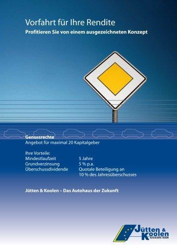 Vorfahrt für Ihre Rendite - Jütten & Koolen Automobile GmbH
