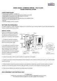 eden ha52e- combine sirene - feu flash guide d ... - JR International