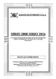 SIRIO 2008 SIRIO 2016 - JR International