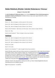Skåde Rideklub afholder Udvidet Klubstævne i Dressur - Distrikt 12