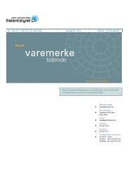 Norsk Varemerketidende nr 10/13 - Patentstyret
