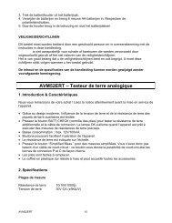 AVM52ERT ? Testeur de terre analogique - JR International