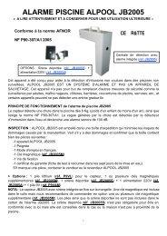 ALARME PISCINE ALPOOL JB2005 - JR International
