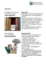 Forårsprogram 2013 - for voksne - Vejen Kommunes Biblioteker