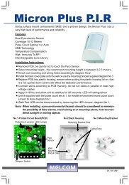 Micron Plus P.I.R - Eclats antivols