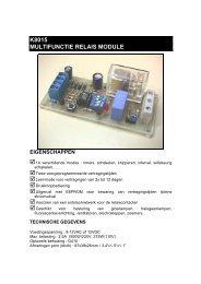 k8015 multifunctie relais module eigenschappen - JR International