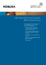 S&P Diversified Trends Indicator 80% Protected Fund - Avanza