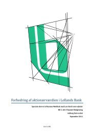 Speciale om Lollands Bank - Aalborg Universitet