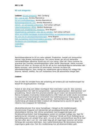 NR 1/2000 EU och drogerna - RFHL