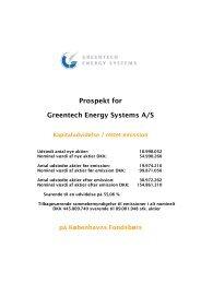 Læs meddelelse - PDF - Greentech Energy Systems A/S