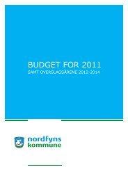 BUDGET FOR 2011 - Nordfyns Kommune