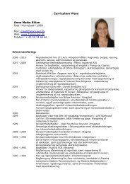 Curriculum Vitae Anne Mette Kilian - Tal-knuser.dk