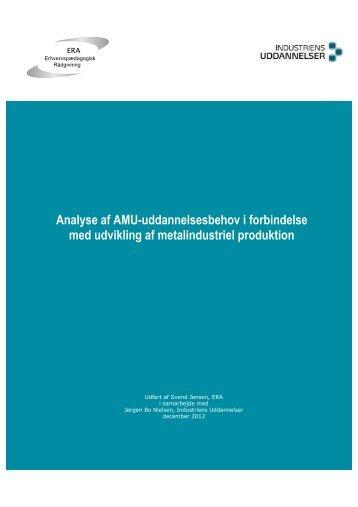 Analyse af AMU-uddannelsesbehov i metalindustriel produktion