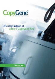 Offentligt udbud af aktier i CopyGene A/S