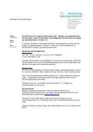 Orienteringsskrivelse af 21. december 2012 - Budget- og ...
