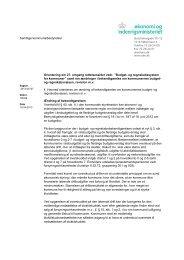 Orienteringsskrivelse af 15. april 2013 - Budget- og ...