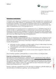 NOTAT Beskatning af vandselskaber I forbindelse ... - Naturstyrelsen