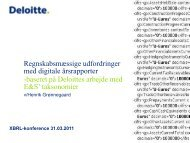 Regnskabsmæssige udfordringer med digitale årsrapporter