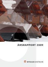ÅRSRAPPORT 2009 - Byggecentrum