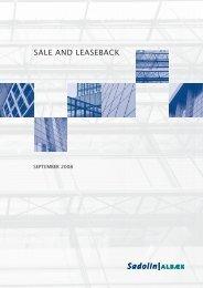 Sale and leaseback notat - Sadolin & Albæk