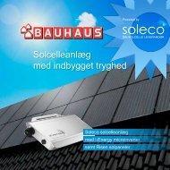 Soleco-Bauhaus brochure - Soleco A/S