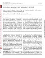 Anti-Inflammatory Activity of Macrolide Antibiotics - Journal of ...