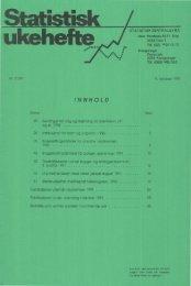 Statistisk Ukehefte 1991, 41 - SSB